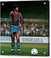 Diego Maradona Acrylic Print