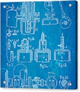 Diesel Internal Combustion Engine Patent Art 1898 Blueprint Acrylic Print