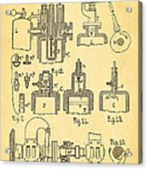Diesel Internal Combustion Engine Patent Art 1898 Acrylic Print