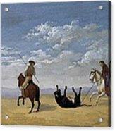 Diez, Joaqu�n 1840. Derribo De La Acrylic Print