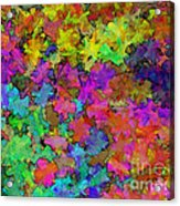 Digiral Abstract Colors Rich Acrylic Print