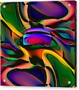 Digital Abstract Citiscape 3000 Acrylic Print