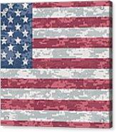 Digital Camo Us Flag Acrylic Print