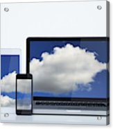 Digital cloud Acrylic Print