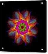 digital flower 08C08a Acrylic Print