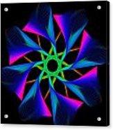 digital flower 08C08n Acrylic Print
