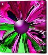 Digital Flower Acrylic Print