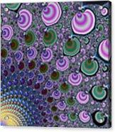 Digital Fractal Artwork Beautiful Colors Acrylic Print