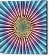 Digital Mandala Flower Acrylic Print