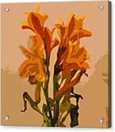 Digital Painting Lily Like Acrylic Print