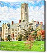 Digital Painting Of University Hall Acrylic Print