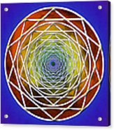 Digital Pentagon Wormhole Acrylic Print