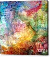 Digital Watercolor Abstract Acrylic Print