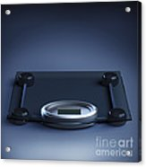 Digital Weighing Scales Acrylic Print