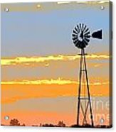 Digital Windmill-horizontal Acrylic Print