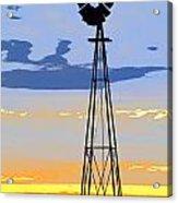 Digital Windmill-vertical Acrylic Print