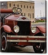 Dillon Montana Vintage Fire Truck Acrylic Print