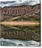 Dillon Pinnacles In Blue Mesa Acrylic Print