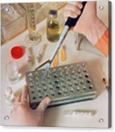 Dilution Of Heparin In Heparin Potency Research Acrylic Print