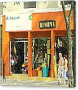 Dimona Latin Quarter Romantic Morning Summer Stroll Pretty Streets Montreal City Scene C Spandau Acrylic Print