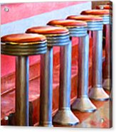 Diner - V1 Acrylic Print by Wingsdomain Art and Photography