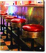 Diner - V2 - Square Acrylic Print