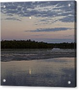 Ding Darling And Moon - 16x42 Acrylic Print