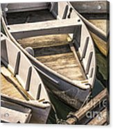 Dinghies Dockside Faded Acrylic Print