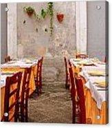 Dining Al Fresca Acrylic Print