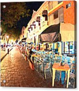 Dining Al Fresco In Merida Acrylic Print