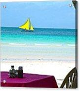 Dining At White Beach Acrylic Print
