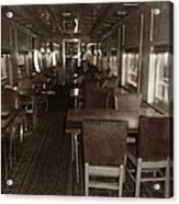 Dining Car Acrylic Print