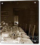 Dining Room Table Circa 1900 Acrylic Print