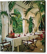 Dining Room With Place Setting Acrylic Print