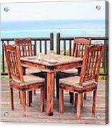 Dining Table Acrylic Print by Tom Gowanlock