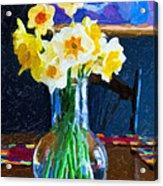 Dining With Daffodils Acrylic Print by Jo-Anne Gazo-McKim