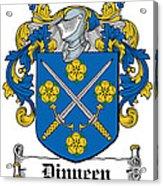 Dinneen Coat Of Arms Irish Acrylic Print