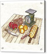 Weighing Dinner Preparation Supper Acrylic Print