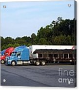 Dinner Time For Truckers Acrylic Print