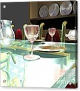 Dinning Table Acrylic Print
