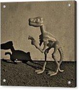 Dino Dark Medium Sepia Acrylic Print