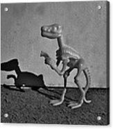 Dino Dark B W Acrylic Print