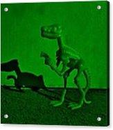 Dino Dark Green Acrylic Print