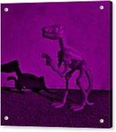 Dino Dark Purple... Barney Acrylic Print