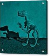 Dino Dark Turquoise Acrylic Print