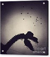 Dino In The City Acrylic Print