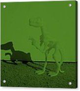 Dino Olive Acrylic Print