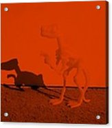 Dino Orange Acrylic Print