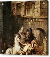 Diomedes Devoured By His Horses Acrylic Print