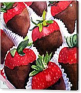 Dipped Strawberries Acrylic Print
